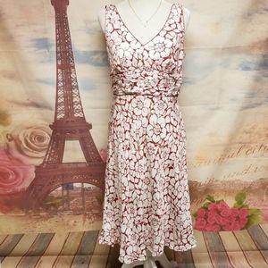 Ann Taylor Hawaiian flower print silk dress
